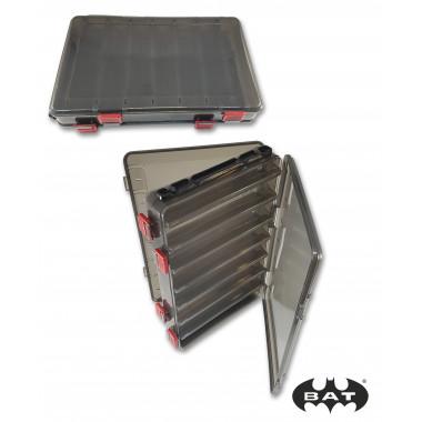 Коробка для воблеров двухсторонняя НS 319 (260*160*50) черная прозр. 14 отд.